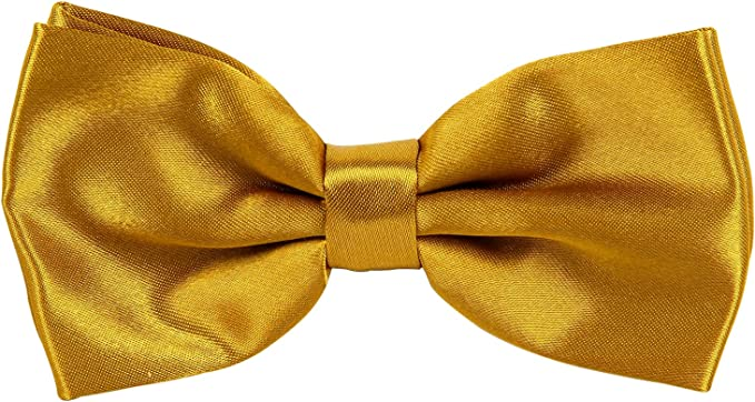 L/&L/® Mens Pre Tied Plain Satin Clip On Bow tie Wedding Party Fancy