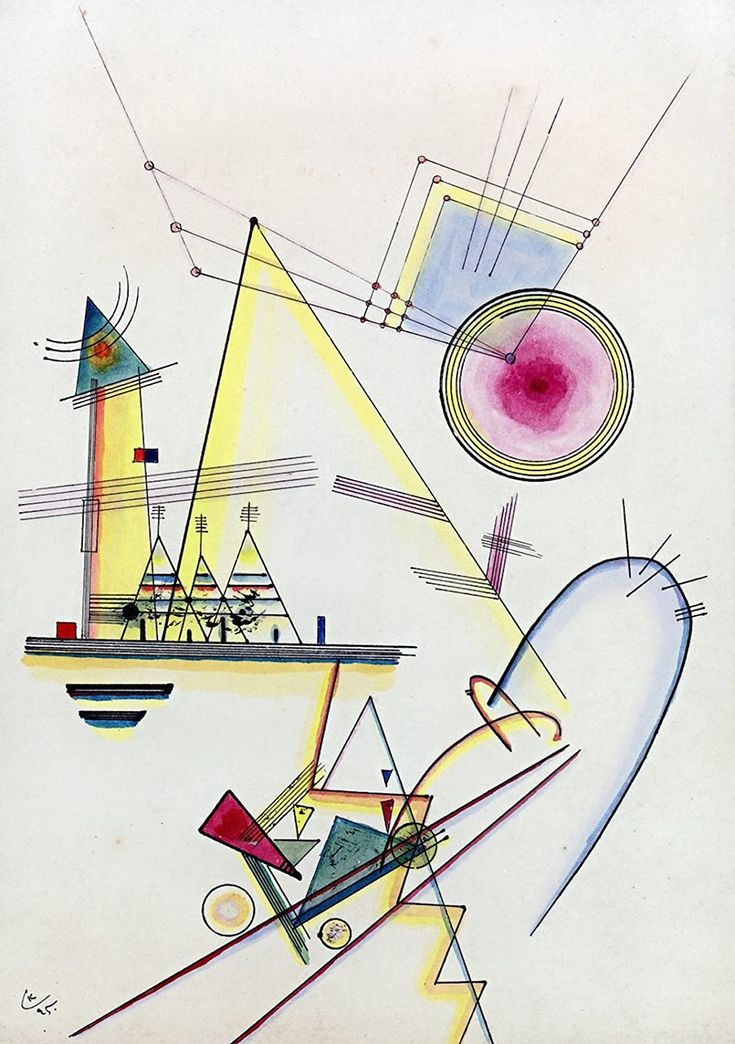 Sailing Boat In In The Style Wassily Kandinsky Art
