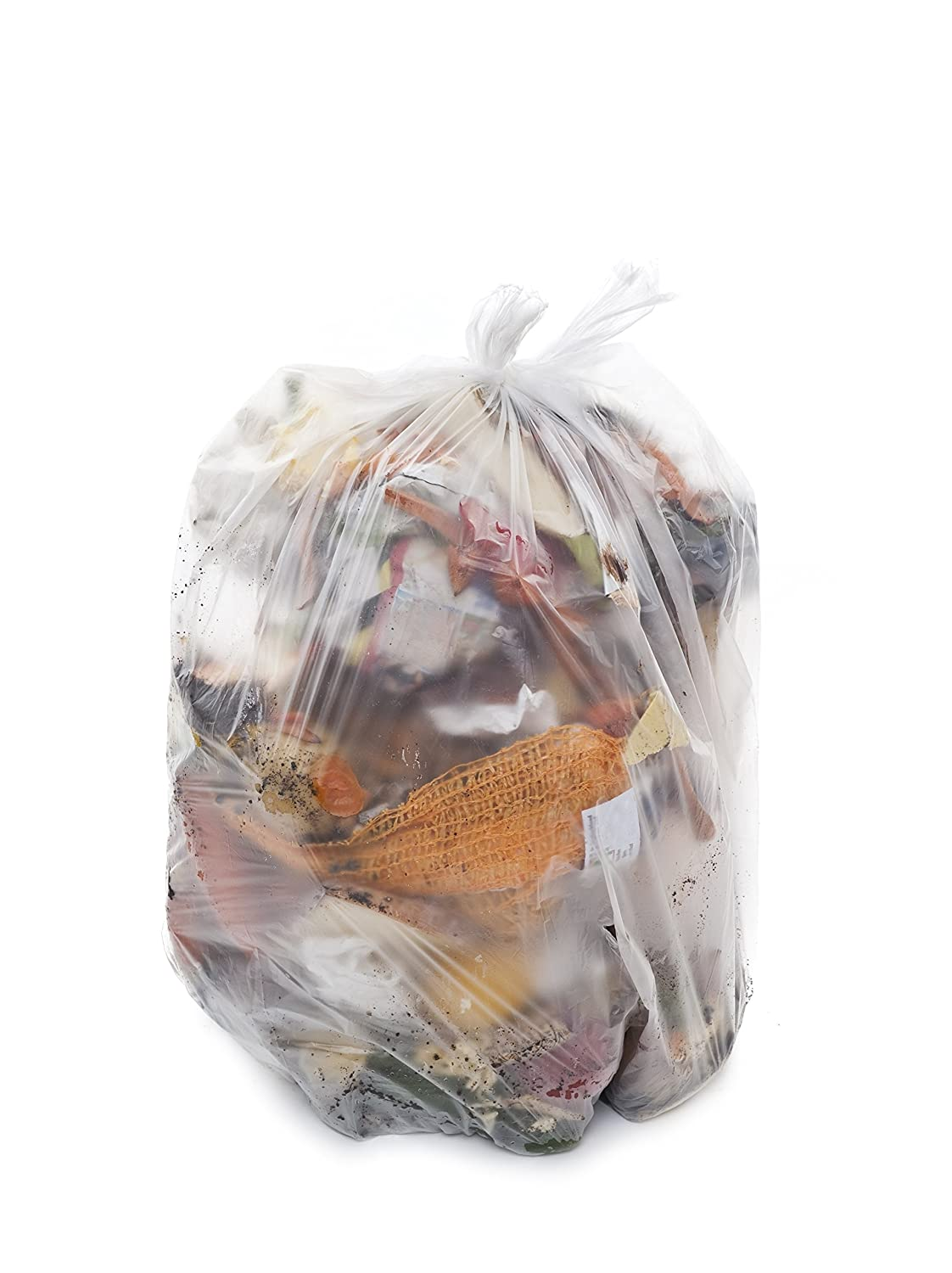 Resilia 40-45 Gallon Super Strong Trash Bags 1.5 Mil Thick 40x46 inches Made in USA Blue Recycling 50 Bags//Roll Wire Ties Included WxH