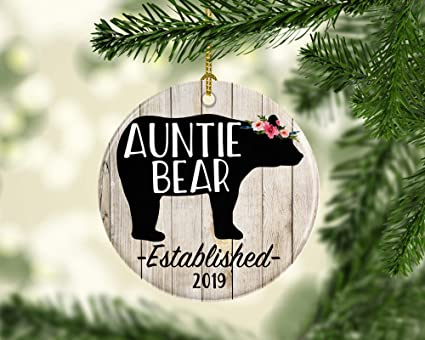 SLobyy Personalized Ornament for Aunt, Auntie Bear Christmas Ornament - Amazon.com: SLobyy Personalized Ornament For Aunt, Auntie Bear