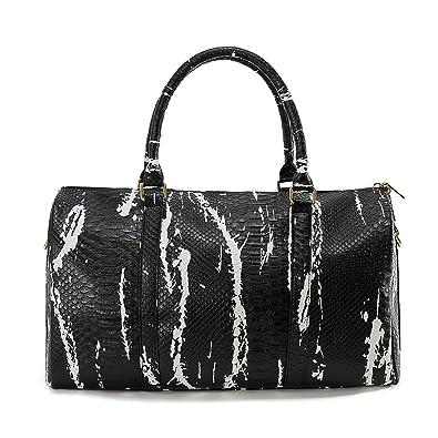 Amazon.com: Nevenka bolsa de viaje plegable para mujer piel ...