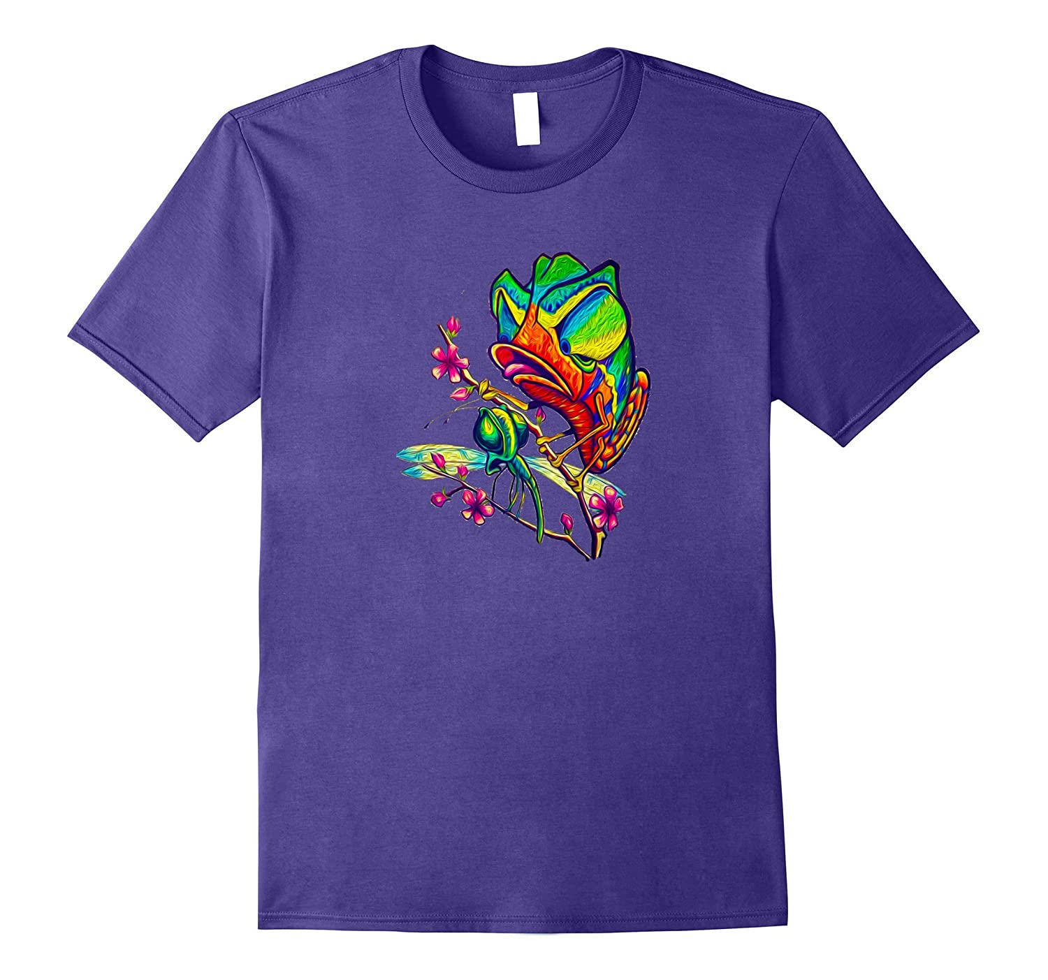 Chameleon Attack New School Original Art Bright Colors Tee