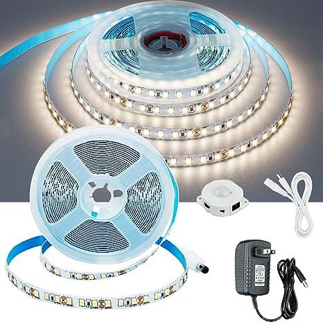 5M LED Bed Strip Motion Sensor 3528 LED Night Light For room Cabinet Wardrobe