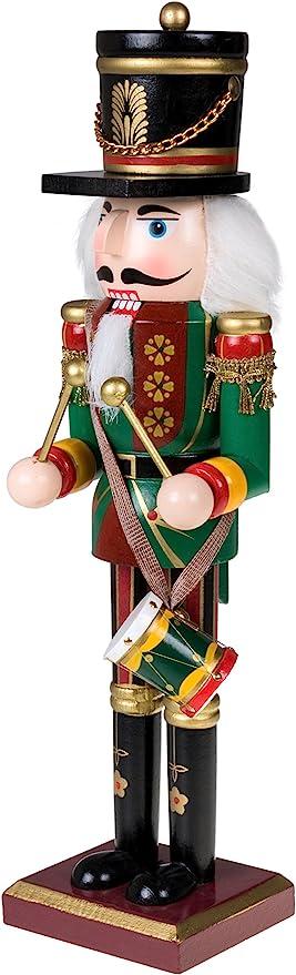 N//C Clever Creations Figurine De Casse-Noisette D/écoration De No/ël De Vacances De F/ête D/écoration De Table De Bar Cadeau De No/ël Ornement Traditionnel en Bois De Casse-Noisette De Pirate