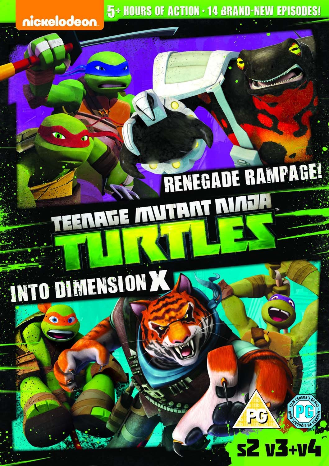 Teenage Mutant Ninja Turtles Season 2 Vol 3 + Vol 4 2 Dvd ...