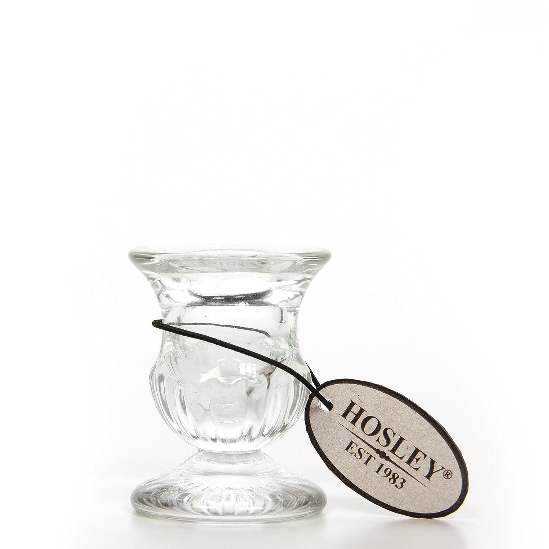 Ideal Gift for Weddings Party Favor 2.5 High Reki Hosleys Set of 12 Glass Taper Candle Holders Meditation