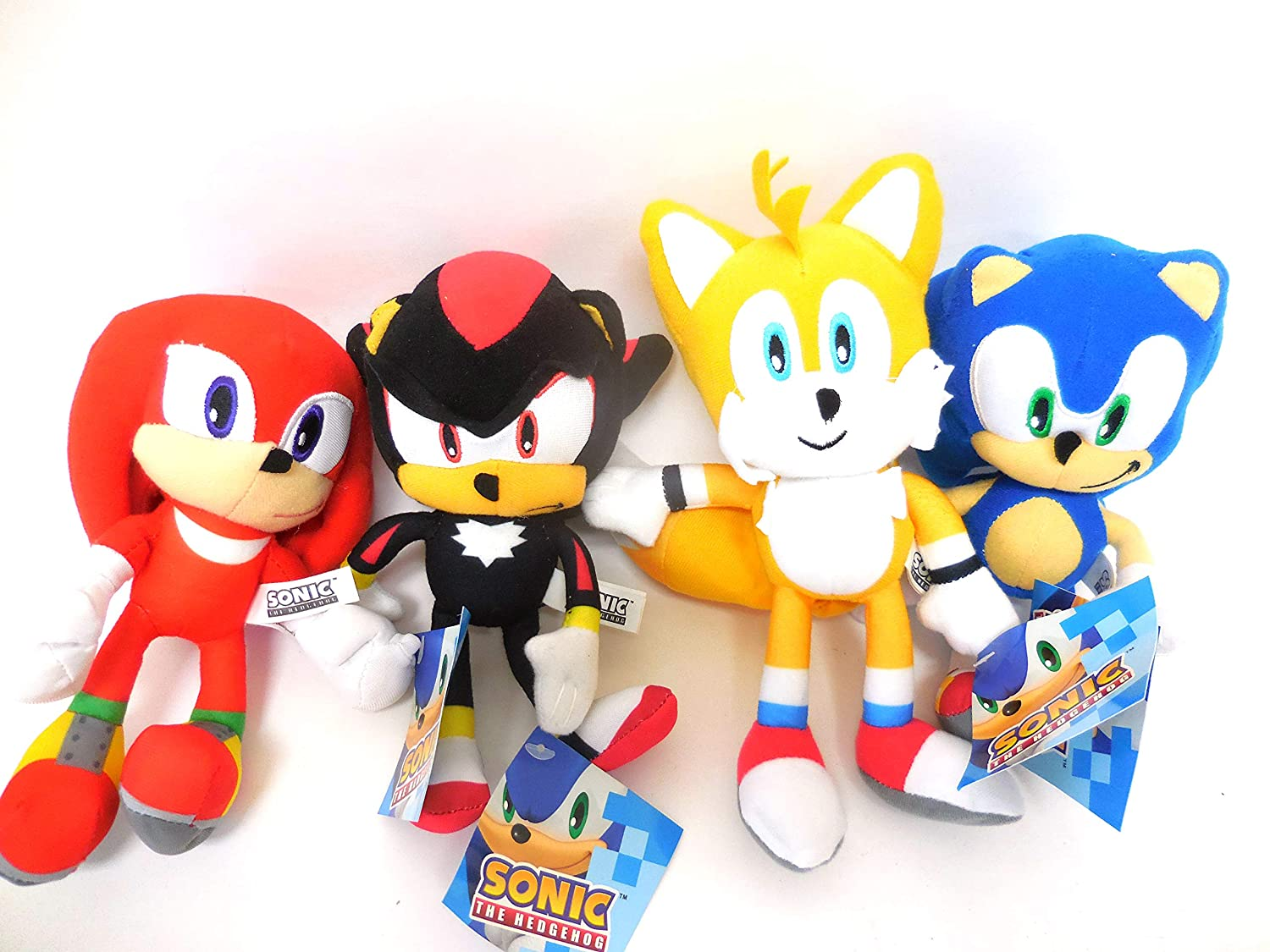 Buy Sega Sonic The Hedgehog X Sonic Shadow Knuckles Tails And Amy Rose 5 Plush Doll Stuffed Toy 15 Inches Sonic Is 9 Inches Only Great Gift For Boys And Girls