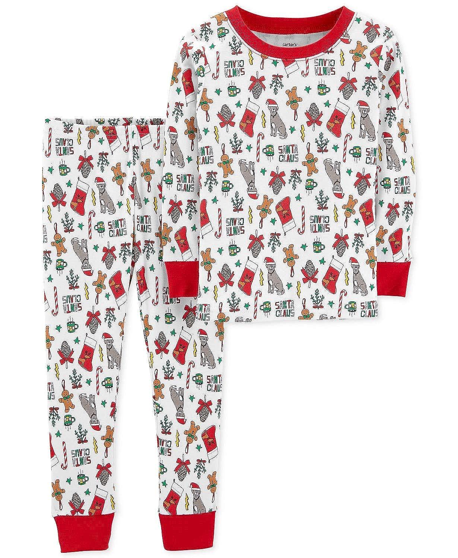 Toddler Boy Christmas Pajamas.Amazon Com Carter S Toddler Boys Or Girls Holiday Christmas