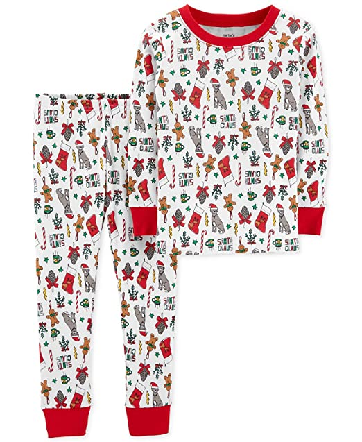 Carter s Toddler Boys or Girls Holiday Christmas Pajamas 2 pc Cotton Snug  Fit ... a75453a00