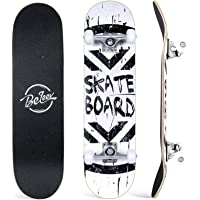 BELEEV Skateboards, 31 x 8 Pulgadas, monopatín Completo para Principiantes, 7 Capas de Arce Canadiense Doble Patada…