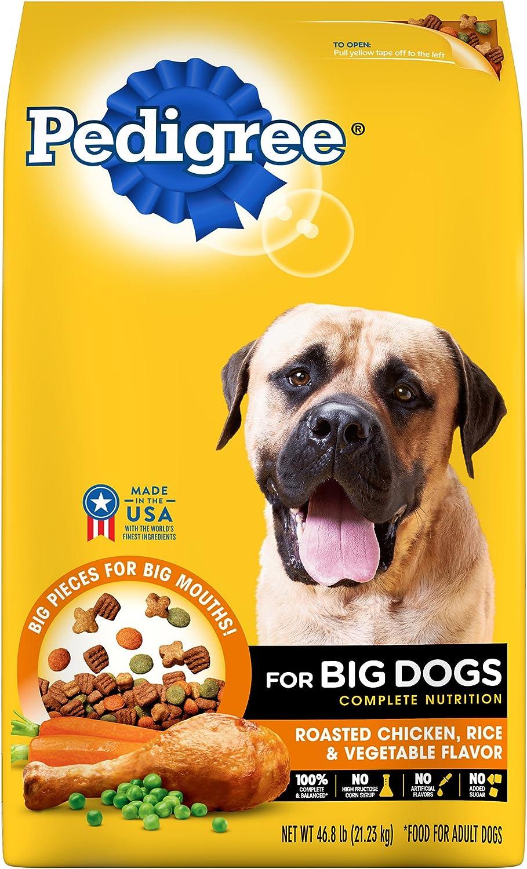 PEDIGREE Complete Nutrition Adult Dry Dog Food Roasted Chicken, Rice & Vegetable Flavor Dog Kibble, 46.8 lb.Bag