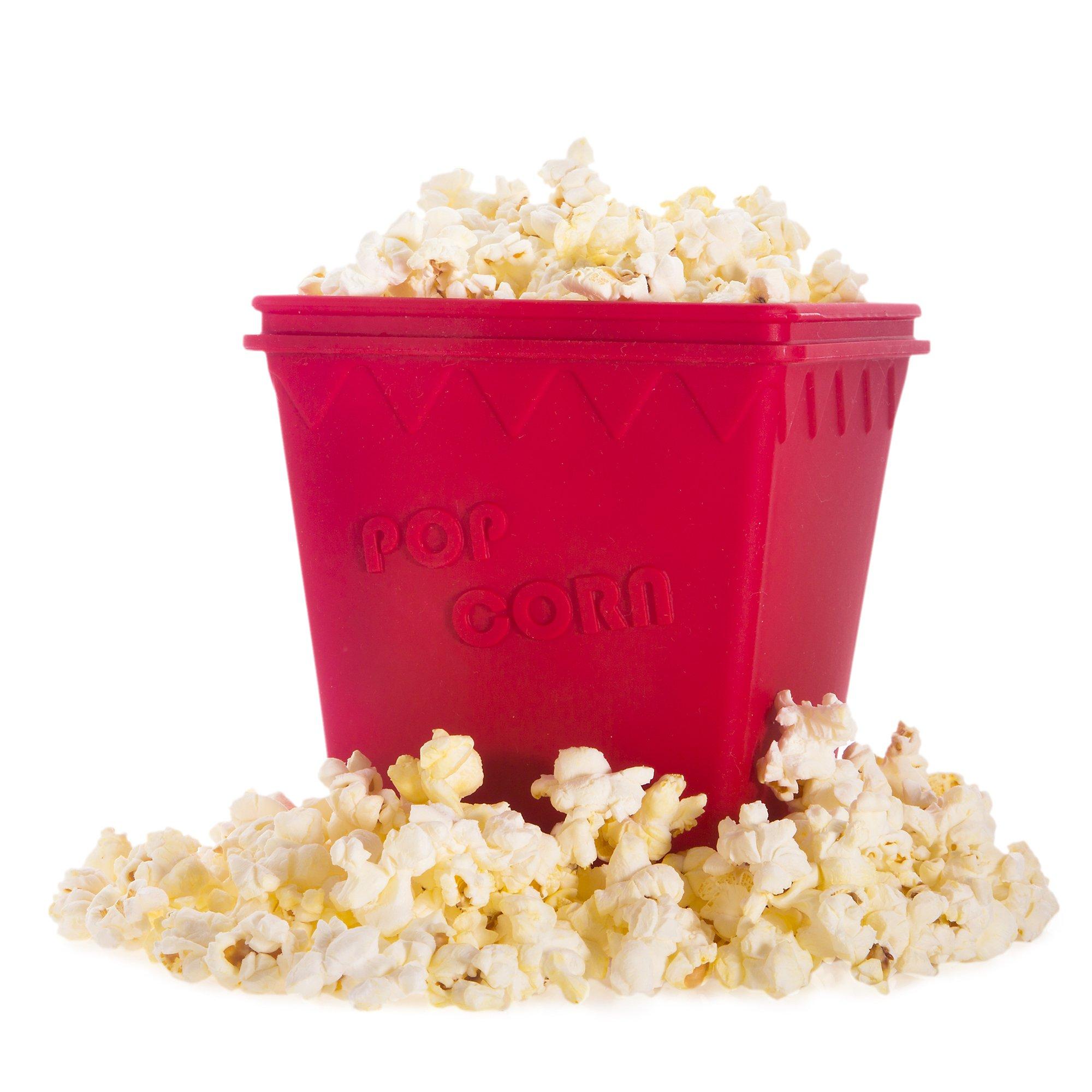 Journey's Edge Cinema-Style Healthy Microwave Popcorn Popper, Red