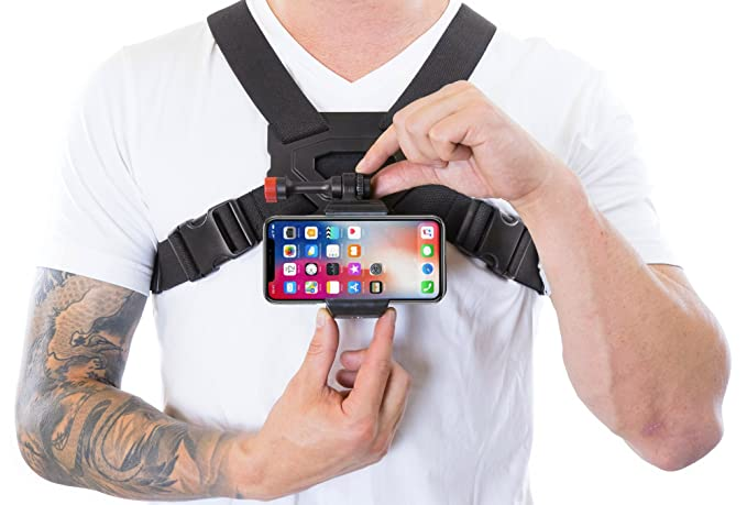 newest collection 0c18c cdedd Amazon.com: Chest Strap Mount for iPhone 8 & 8 Plus Video & Other ...