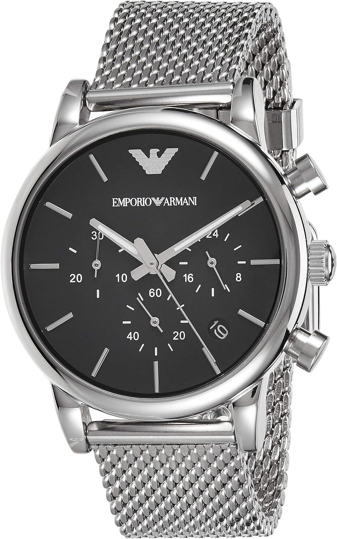 Emporio Armani Reloj Cronógrafo para Hombre de Cuarzo con Correa en Acero Inoxidable AR1811