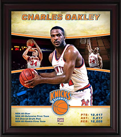 e01c9df4b Charles Oakley New York Knicks Framed 15 quot  x 17 quot  Hardwood Classics  Player Collage -