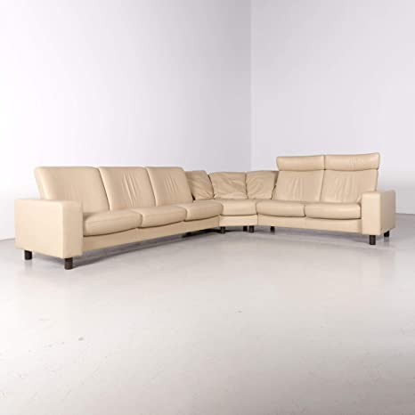 Stressless Arion Designer Leather Corner Sofa Beige Real ...