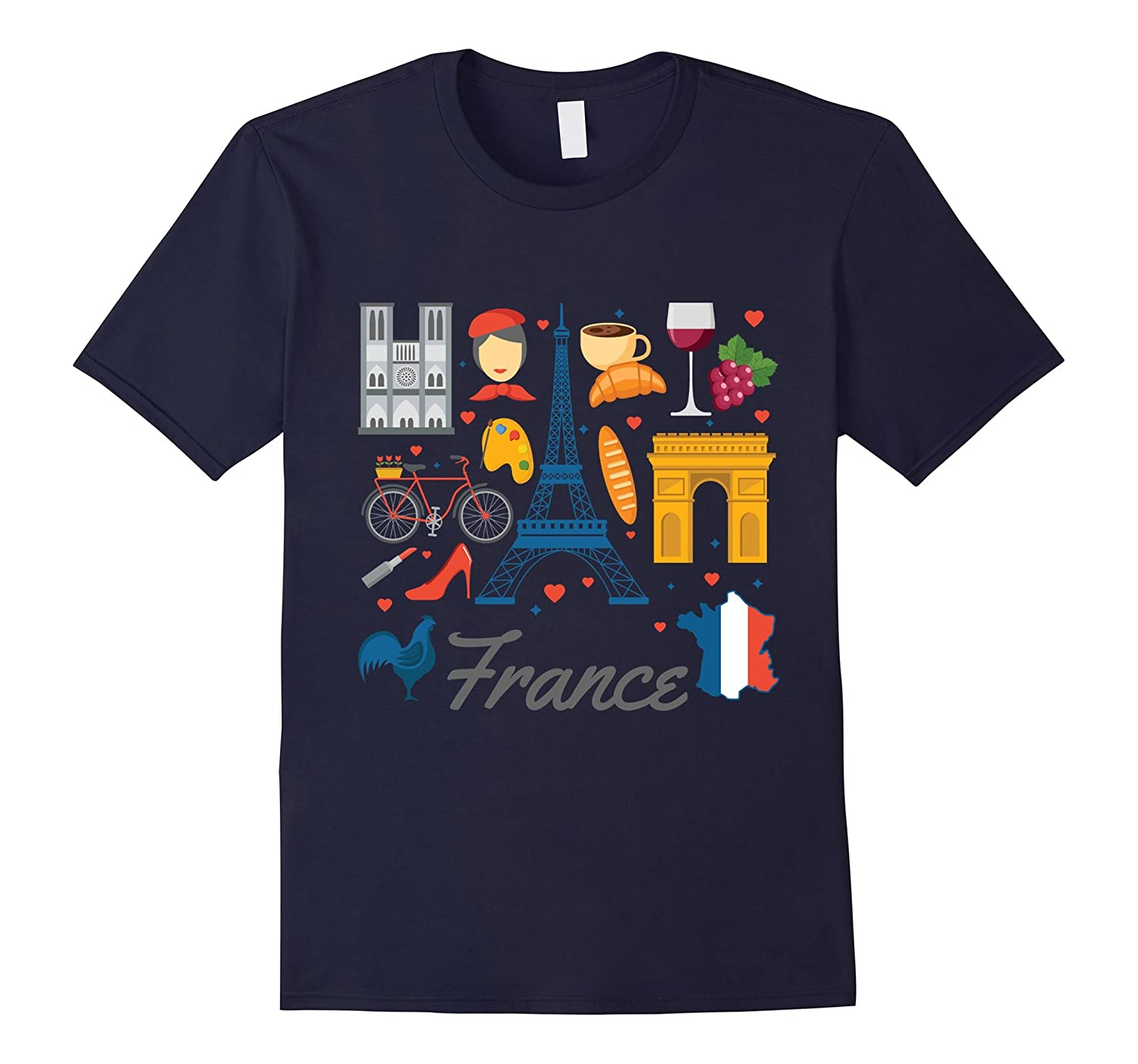 france french elements cool design t shirt cl colamaga. Black Bedroom Furniture Sets. Home Design Ideas