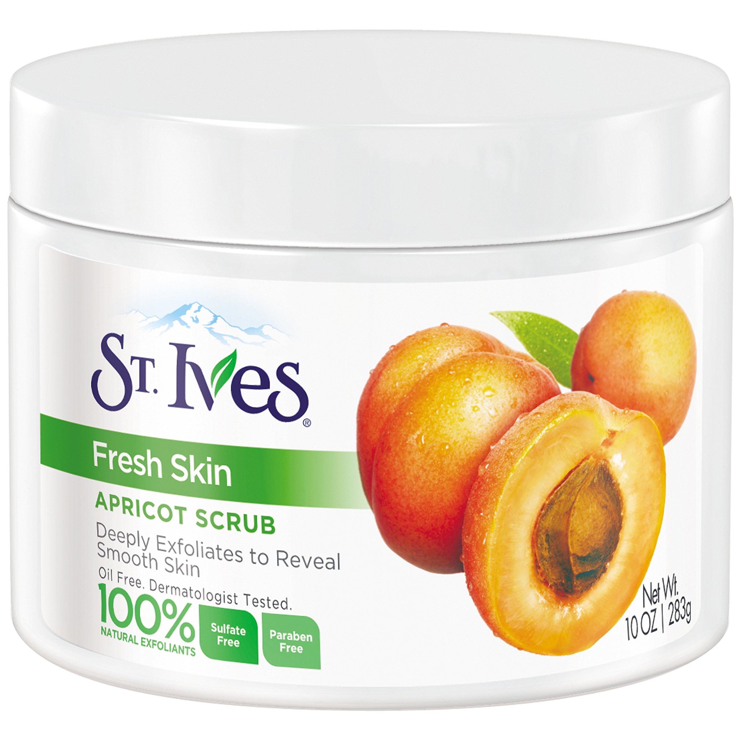 St. Ives Fresh Skin Face Scrub, Apricot 10 oz