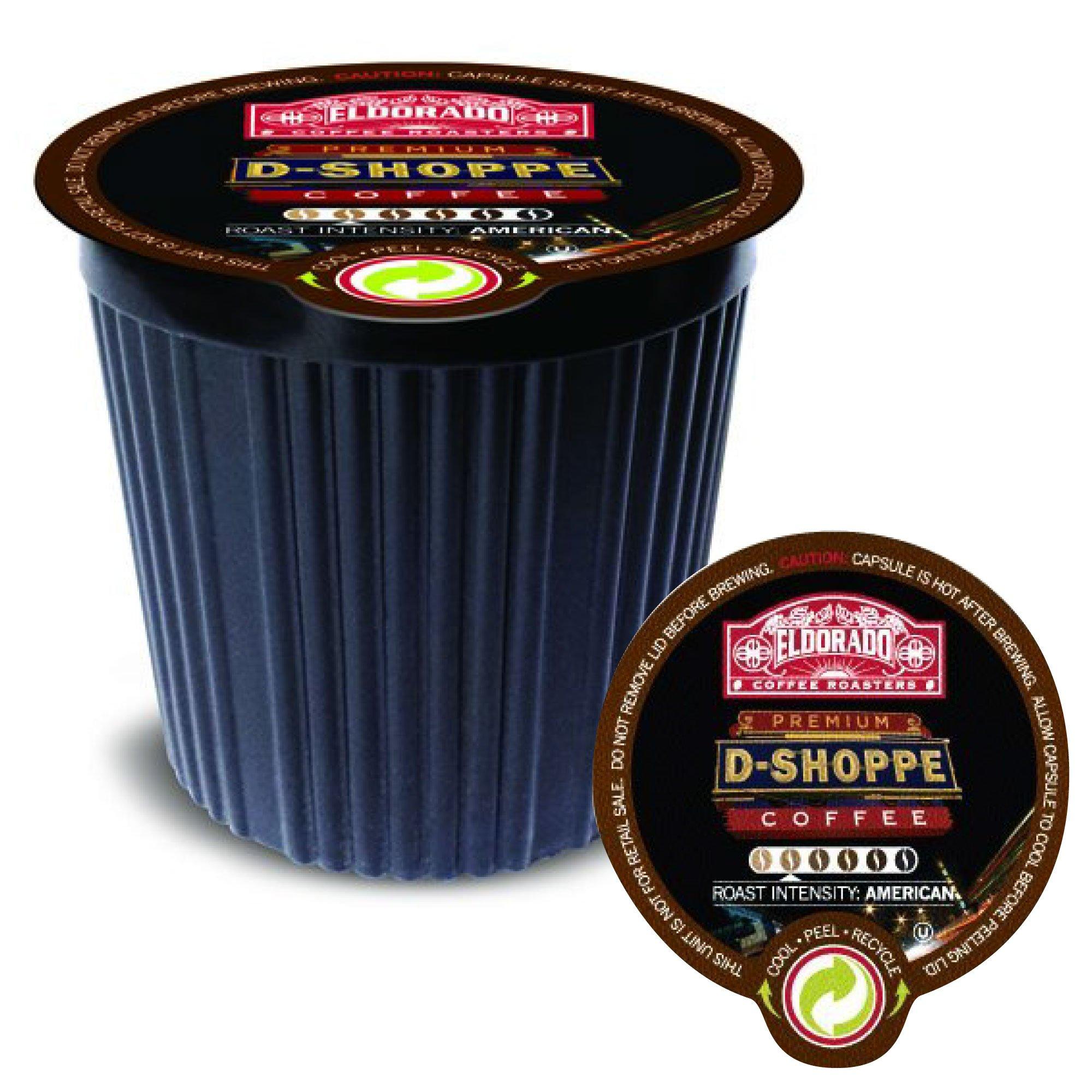 Eldorado Coffee Roasters Coffee Pods D-Shoppe  K Cups for Keurig Home Brewers, 12 Single Serve Capsules