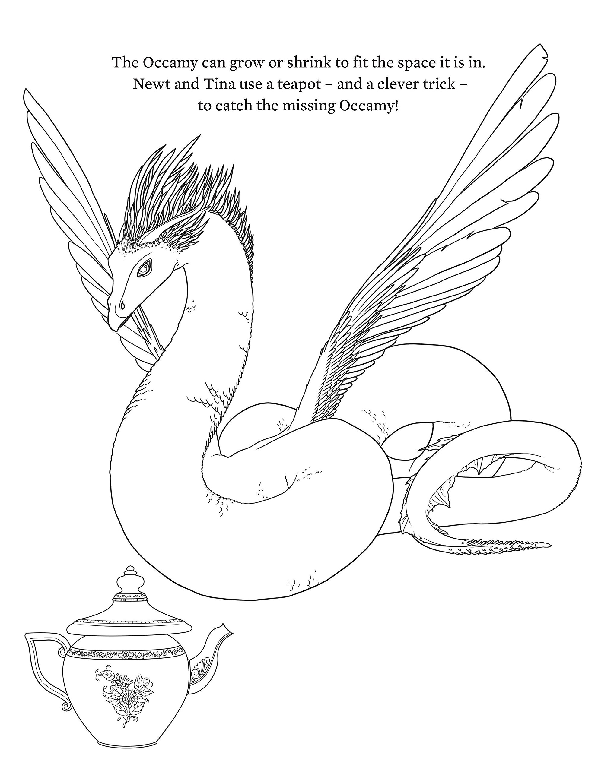 fantastic beasts and where to find them colouring and creativity