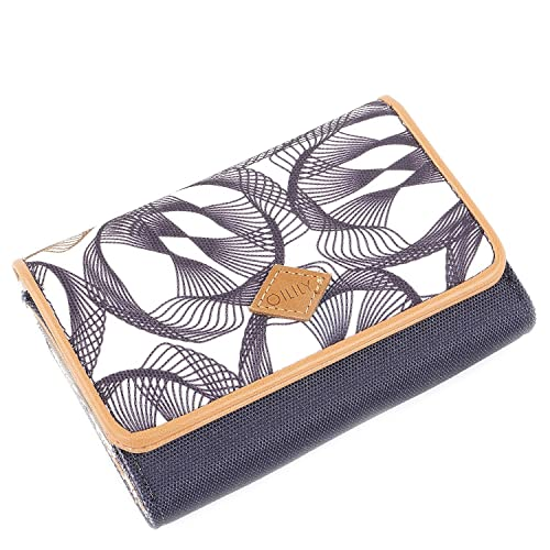 Oilily - S Wallet, Carteras Mujer, Grau (Charcoal), 3.5x10x14 cm