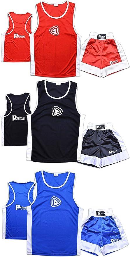 Prime Sports Kids Boxing Set Top & Shorts 2 Pcs Set Satin Fabric For 03-14 Years