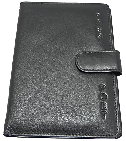 8178f9eac Soft Leather Passport Holder Cover - Black  Amazon.co.uk  Luggage