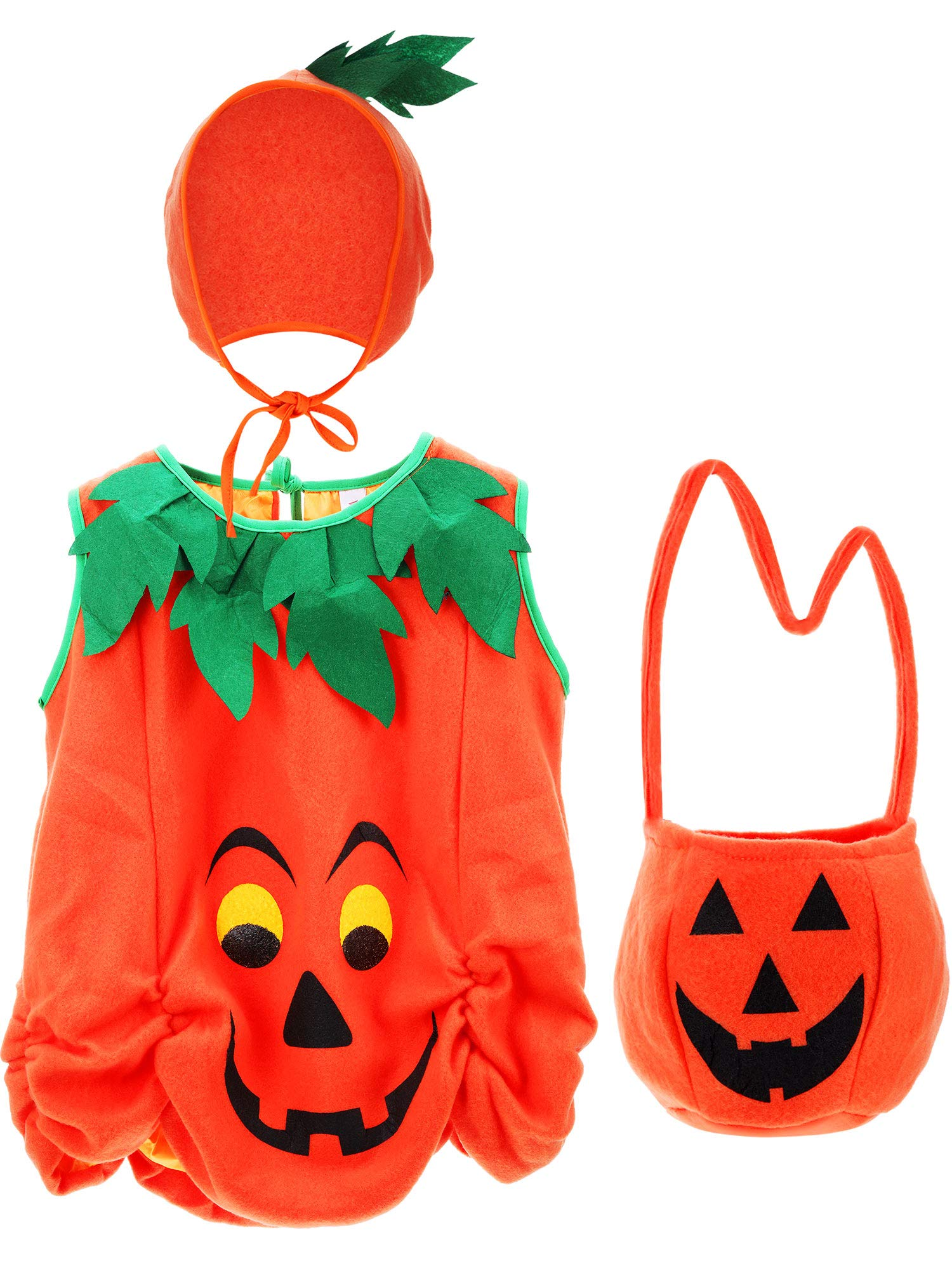 Tatuo Baby's Pumpkin Costume Pumpkin Clothes Kids Halloween Infant Costumes with Pumpkin Hat and Pumpkin Bag by Tatuo