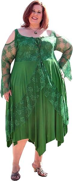 BBW Boutique Renaissance Plus Size Corset Dress with Lace ...