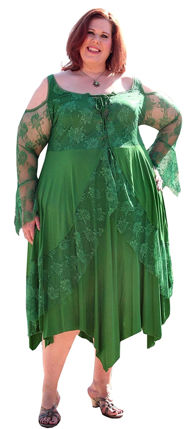 Renaissance Plus Size Corset Dress With Lace Overlay By Bbw Boutique