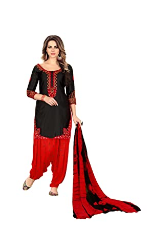 1875958730 Amazon.com: Lilots Patiala Salwar Embroidered Cotton Salwar Kameez Suit  Indian: Clothing