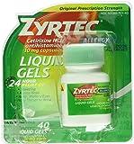 Zyrtec Allergy Liquid Gels, 24 Hour, 40 Count