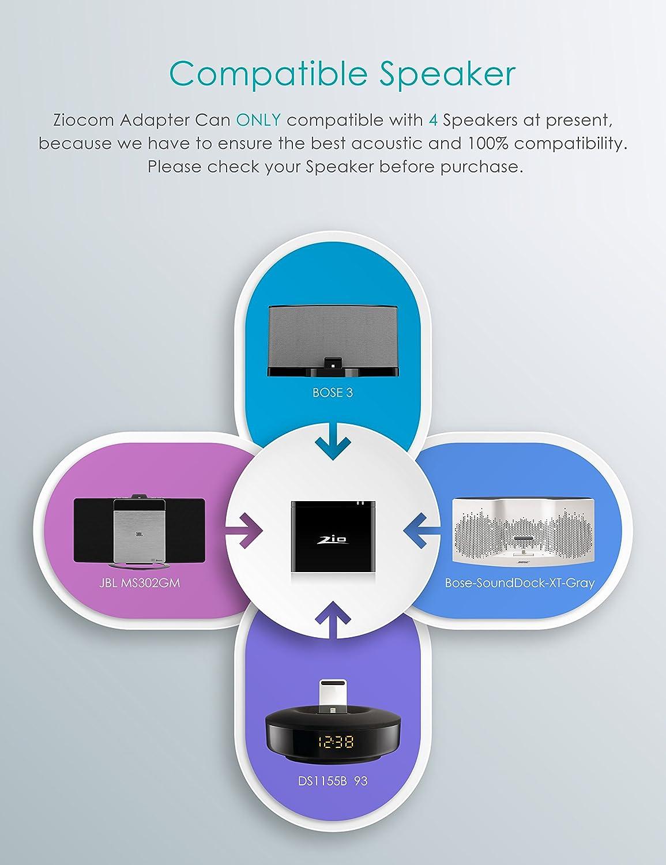 Amazon Ziocom Bluetooth Audio Adapter Music Receiver With 8 Pin