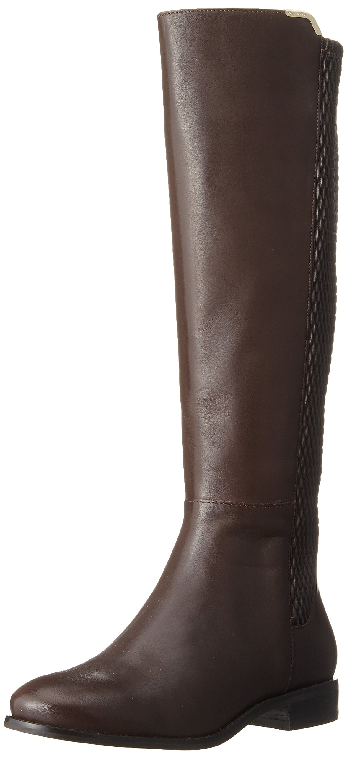 Cole Haan Women's Rockland Boot Riding Boot, Chestnut Leather, 7 B US by Cole Haan