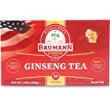 Baumann Ginseng Tea Bag- American Ginseng Tea, Grown in Central Wisconsin, U.S.A