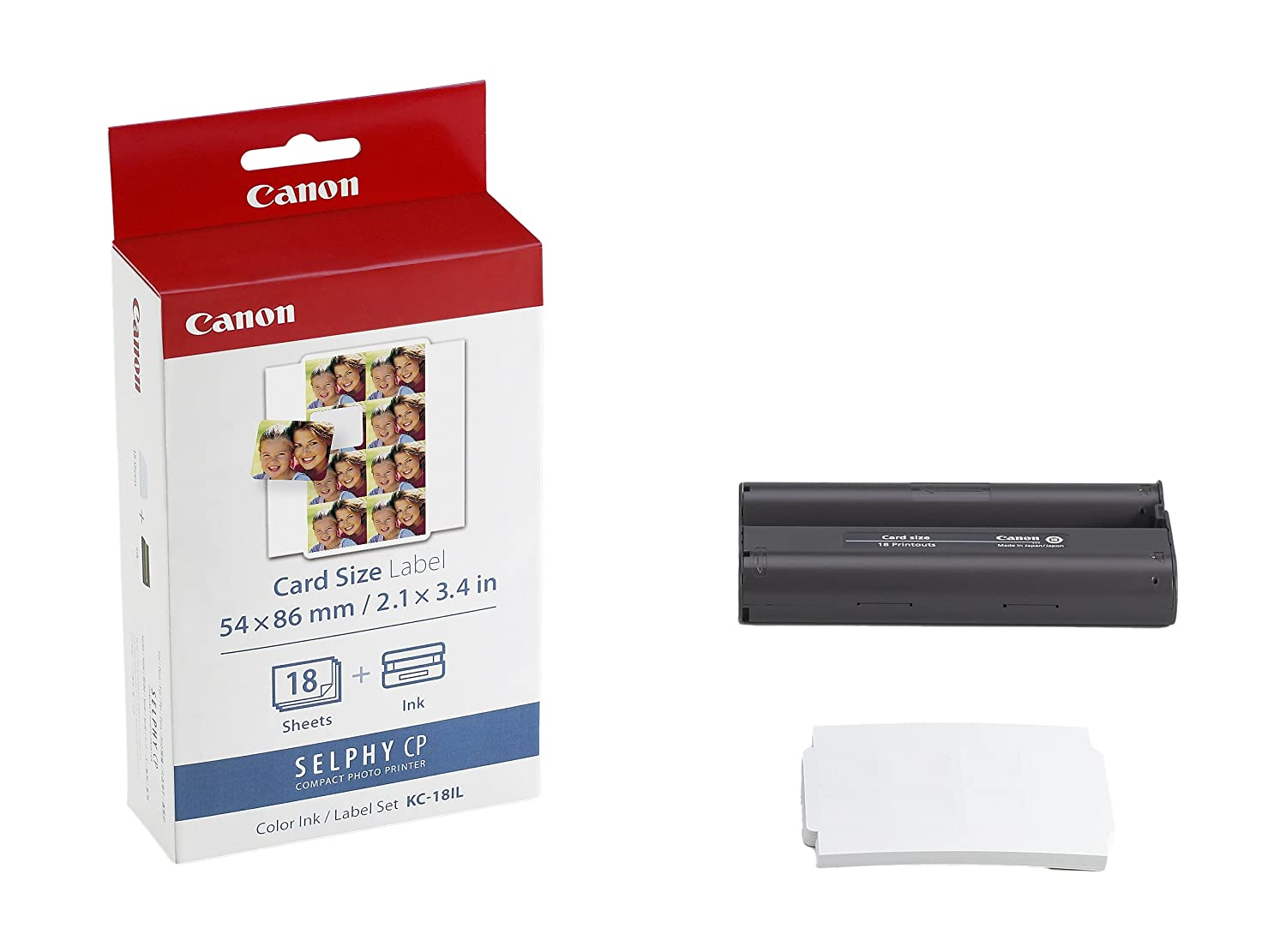 Color printer label - Amazon Com Canon Kc 18il Color Ink And Label Set Cp 100 200 300 Printers Office Products