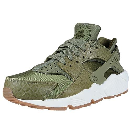 d4338e6b650e5 Nike Wmns Air Huarache Run PRM - Zapatillas de Deporte Mujer - Verde Blanco  Toffee