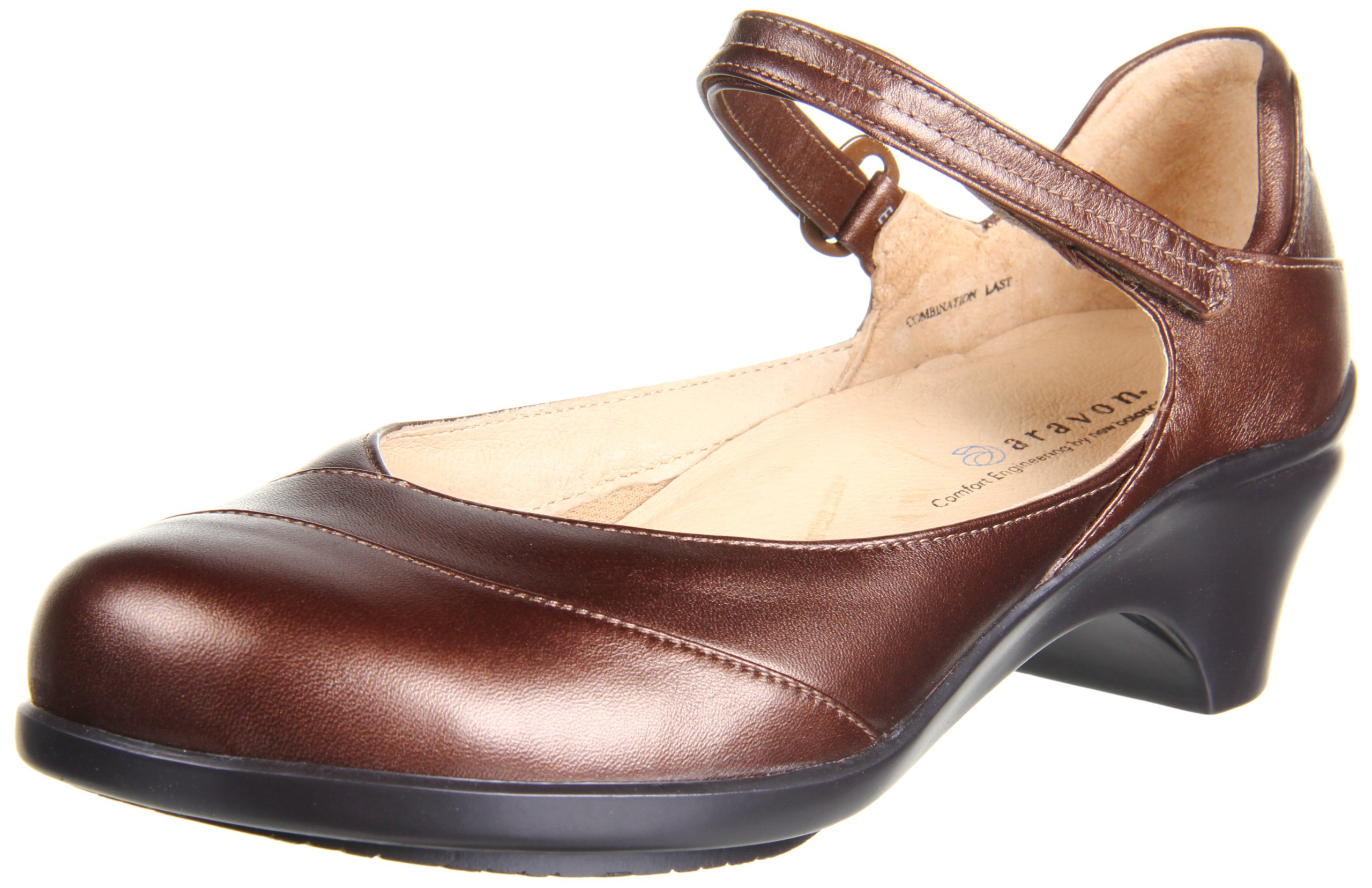 Aravon Womens Maya Pump,Bronze Metallic Leather,10.5 M (B) by Aravon
