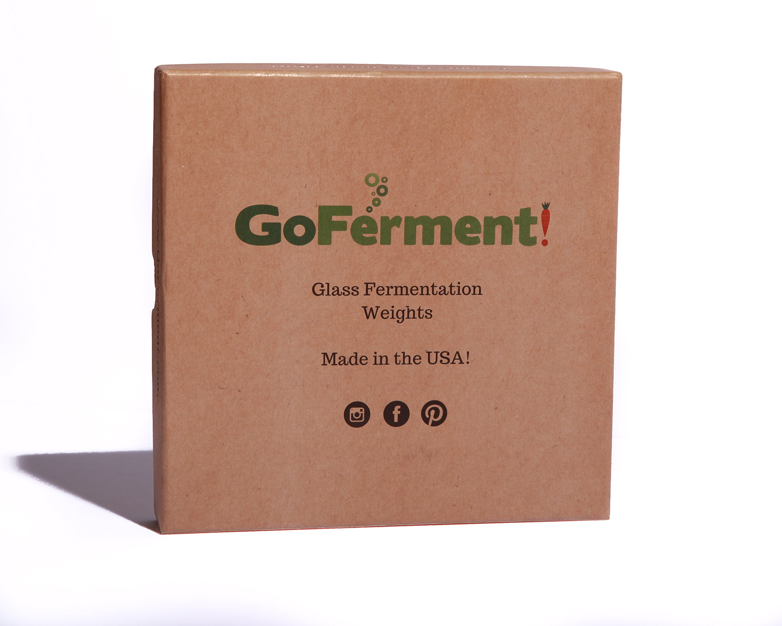 Go Ferment! Wide Mouth Mason Jar Glass Fermentation Weights & Recipe E-Book - Made in the USA (Pack of 4) by Go Ferment! (Image #7)