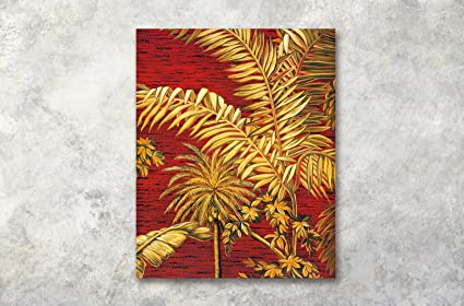 Lb foglie di palma albero foglie foto stampa su tela wall art