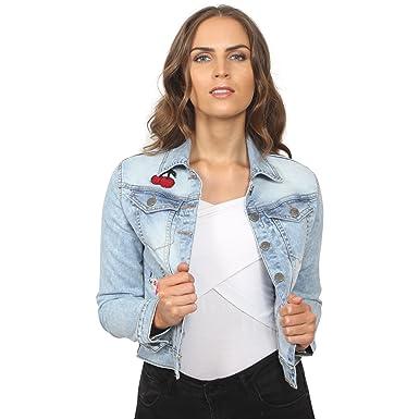 Juicy Trendz Womens Fashion Denim Jacket Ladies Jeans Casual Coat Blue S 235b20f3b8