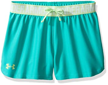 under armour shorts for girls. under armour girls\u0027 play up shorts, absinthe green/summer lime, youth x shorts for girls