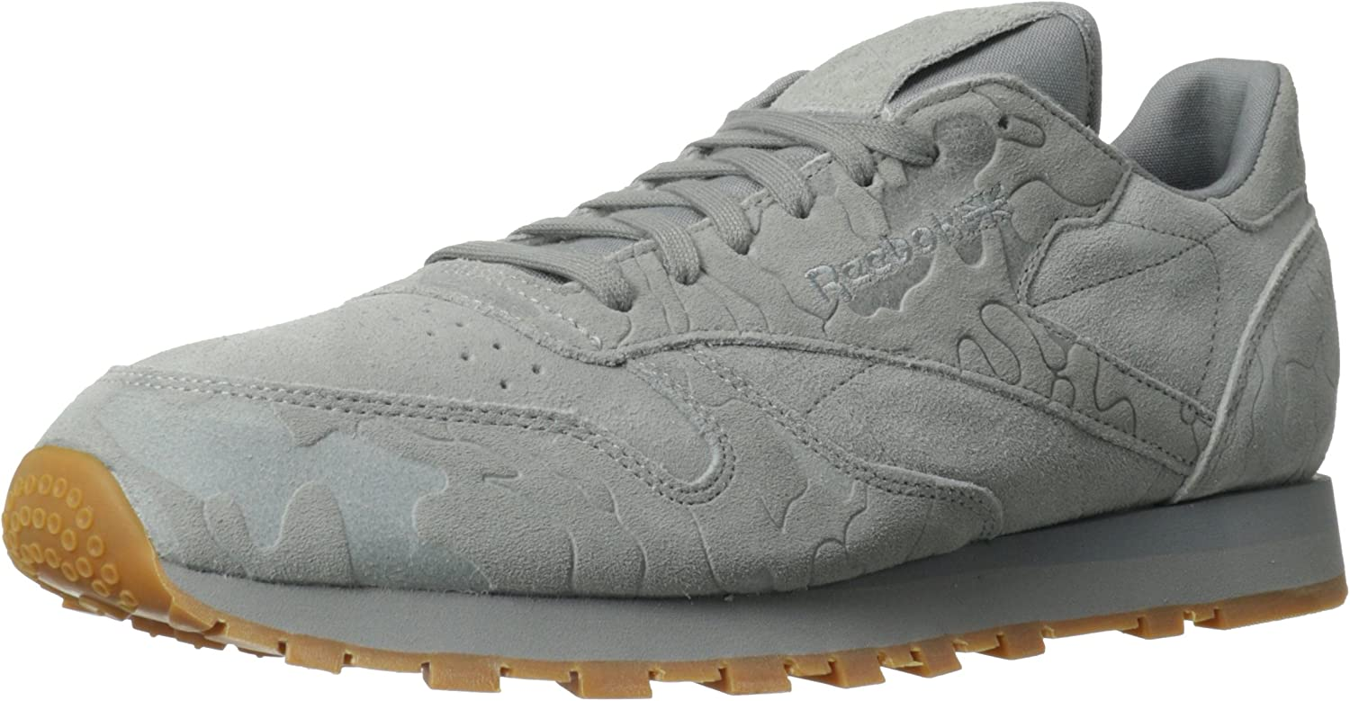 ventas calientes encanto de costo 2019 auténtico Amazon.com | Reebok Men's CL Leather Embossed Camo Classic Shoe | Fashion  Sneakers