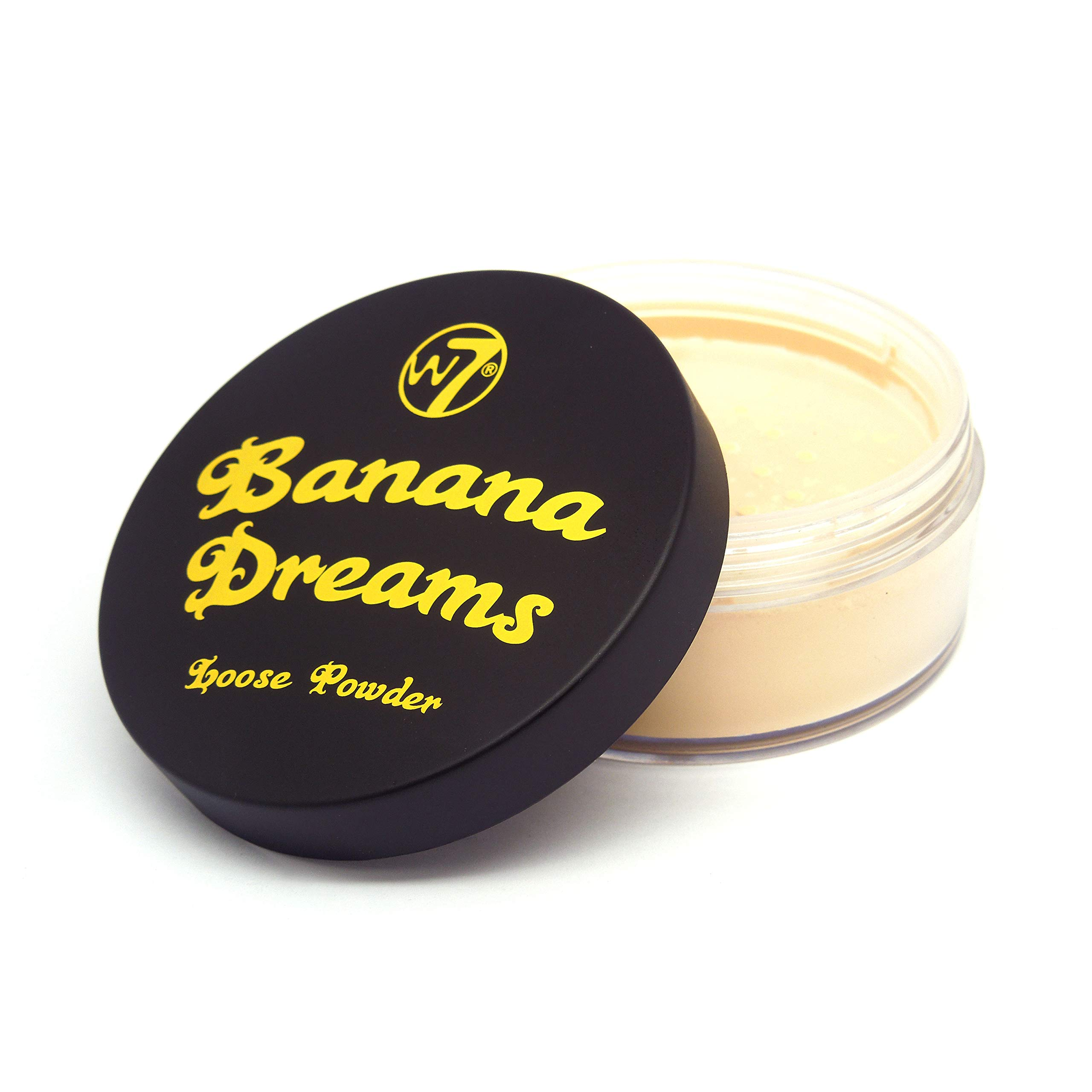 W7 | Banana Dreams Loose Face Powder Makeup | Yellow Setting Powder Suitable For All Skin Tones | Cruelty Free, Vegan Makeup For Women