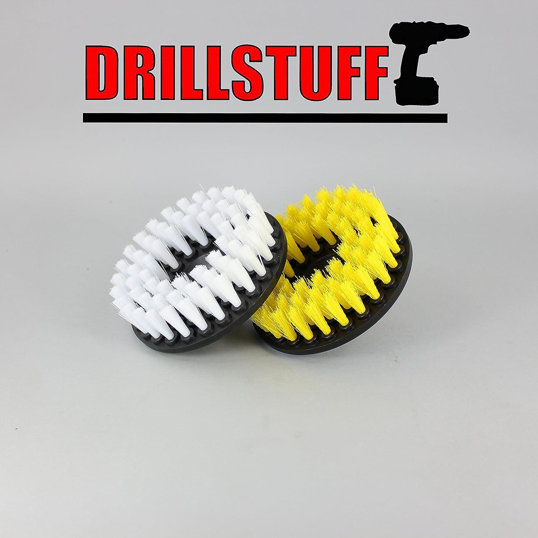 Soft /& Medium Brush Drill 5 x 5 x 5 pulgadas amarillo blanco Drillstuff 2 Piece