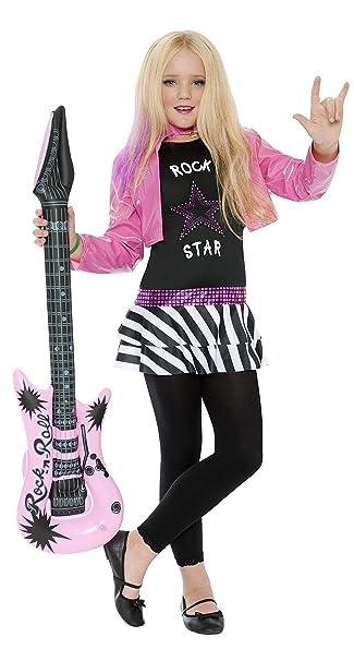 Amazon.com: Disfraz de estrella de rock, niña ...