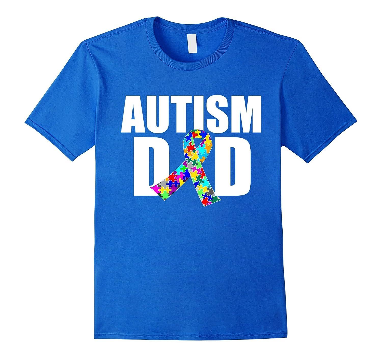 Autism Dad Spectrum Awareness Ribbon T-Shirt-TH