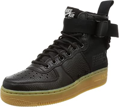 Shop Nike Womens SF AF1 Mid High Top Sneakers Leather Lace