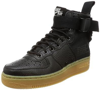 Nike Damen SF Air Force 1 Mid Schwarz Leder/Synthetik Sneaker