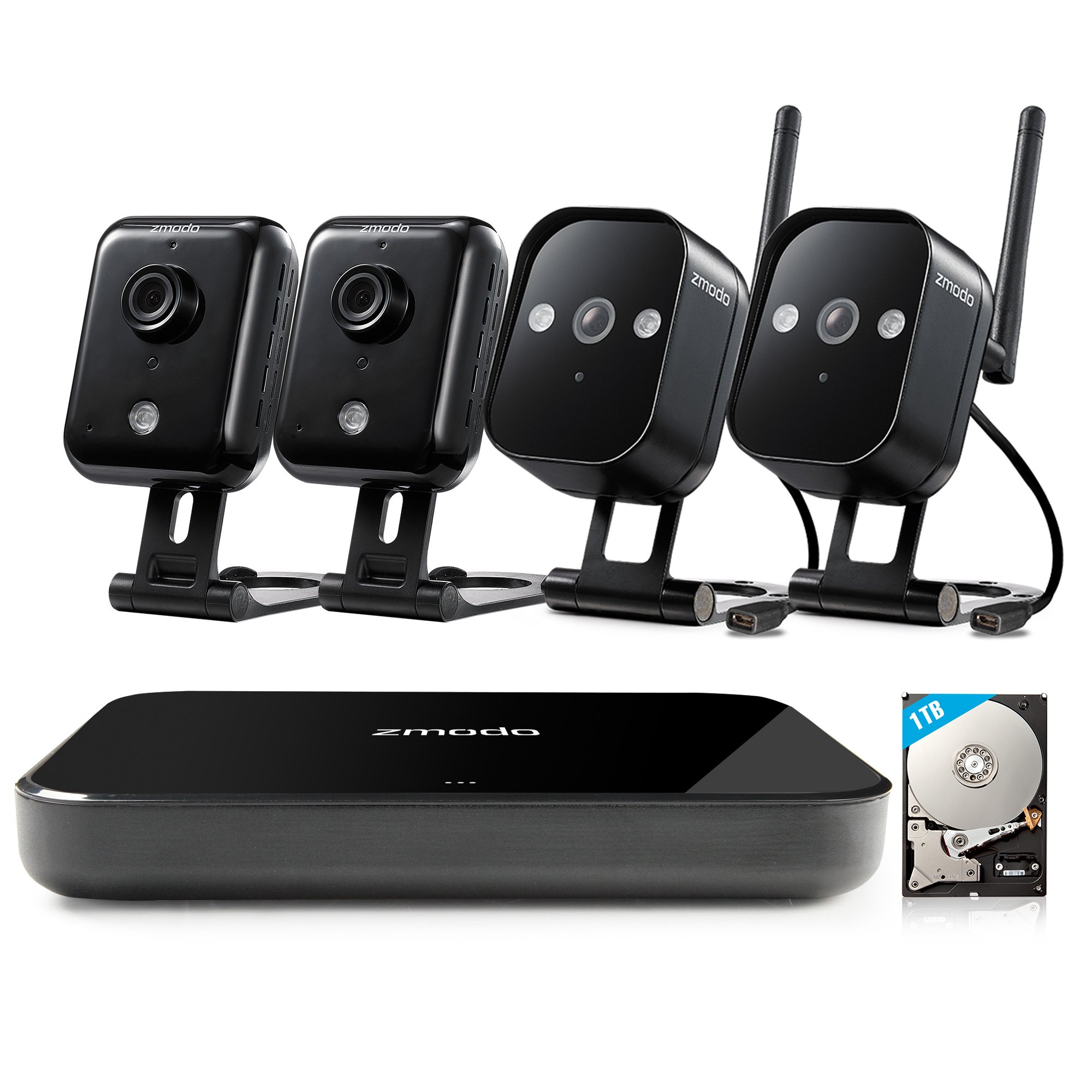 Zmodo Replay - HD WiFi Wireless Camera Security System Full Kit (1TB Hard Drive) by Zmodo